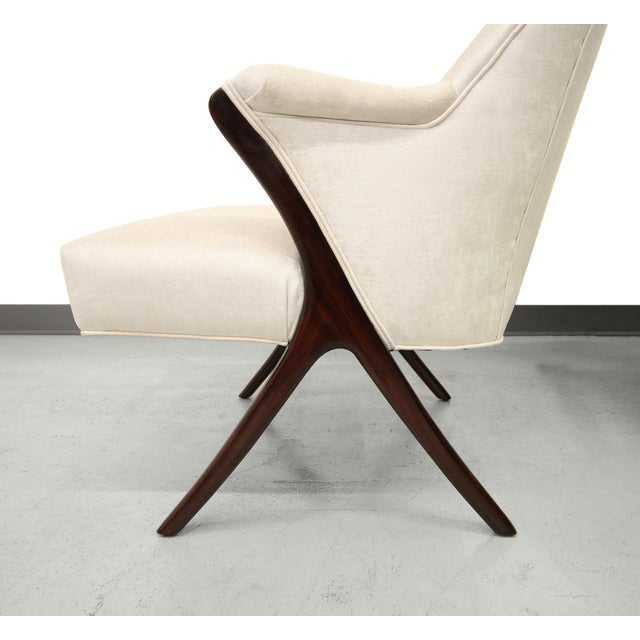 Karpen-Style Mid-Century Scissor Chairs - A Pair - Image 6 of 8