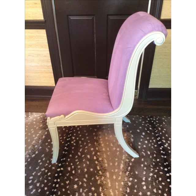 Purple Ultra Suede Chairs - Set of 6 - Image 3 of 6