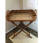 Image of Vintage Mini Rattan Folding Bar Cart