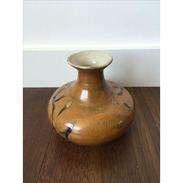 Tree Design Handmade Tan Clay Vase - Image 7 of 7