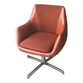 Mid-Century Red Upholstered Herman Miller Side Chair c. 1967
