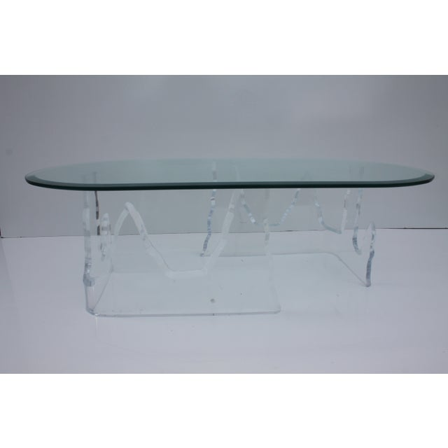Lion in Frost Vintage Lucite Iceberg Coffee Table - Image 7 of 9