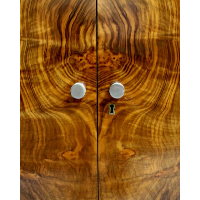 Image of Mid-Century Italian Walnut Cabinets - A Pair