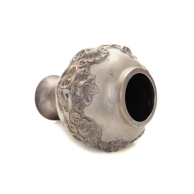 Topazio 19th Century Silver Repousse Vase - Image 6 of 8