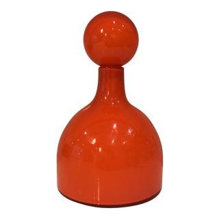 Mid-Century Orange Glass Vase