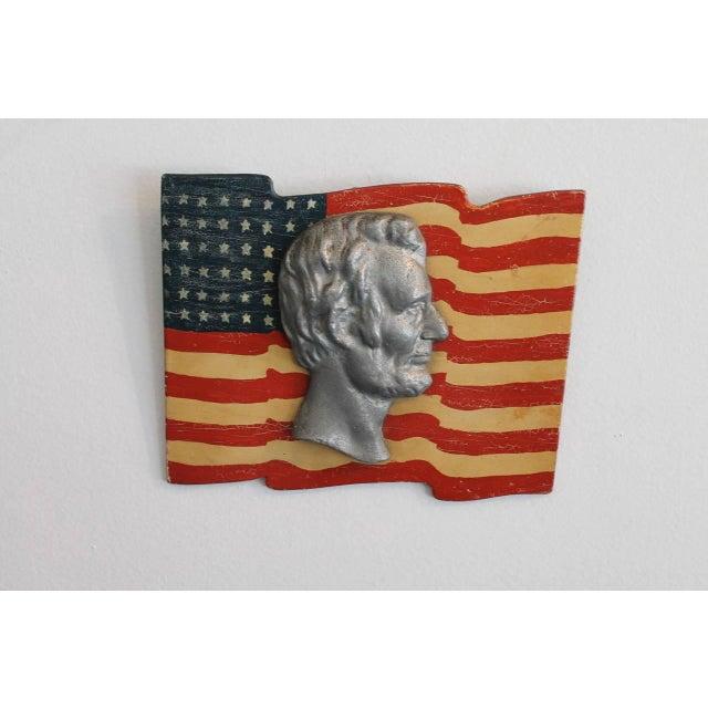 Image of Early Folk Art 48-Star Original Painted Patriotic Parade Flag