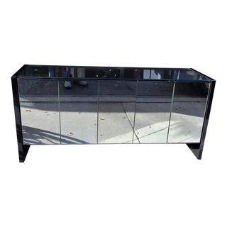 Ello Black Chrome and Mirrored Five-Door Credenza