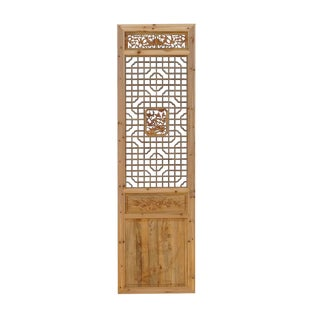 Chinese Natural Wood Geometric Wall Panel