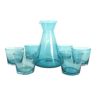 Scandinavian Turquoise Cocktail Set - 7pieces