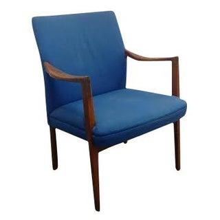 Mid-Century Blue Arm Chair