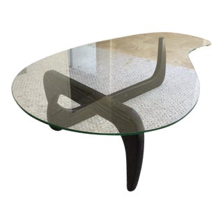 Noguchi Inspired Glass Coffee Table