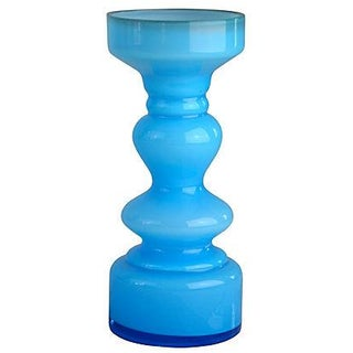 European Turquoise Glass Vase