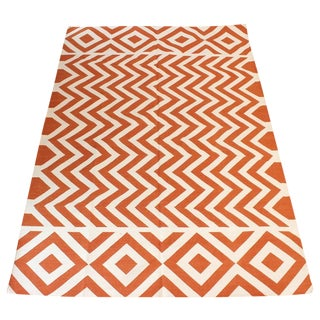 "Madeline Weinrib Orange ""Lupe""Area Rug - 6' X 9'"