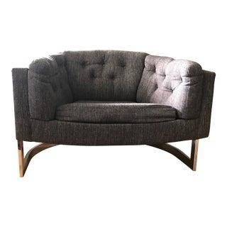 Milo Baughman Style Chrome Club Chair