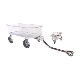 Hollywood Glam Lucite Cart & Wagon - A Pair