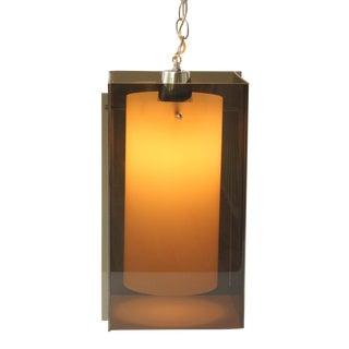 Smoked Acrylic Swag Pendant Lamp