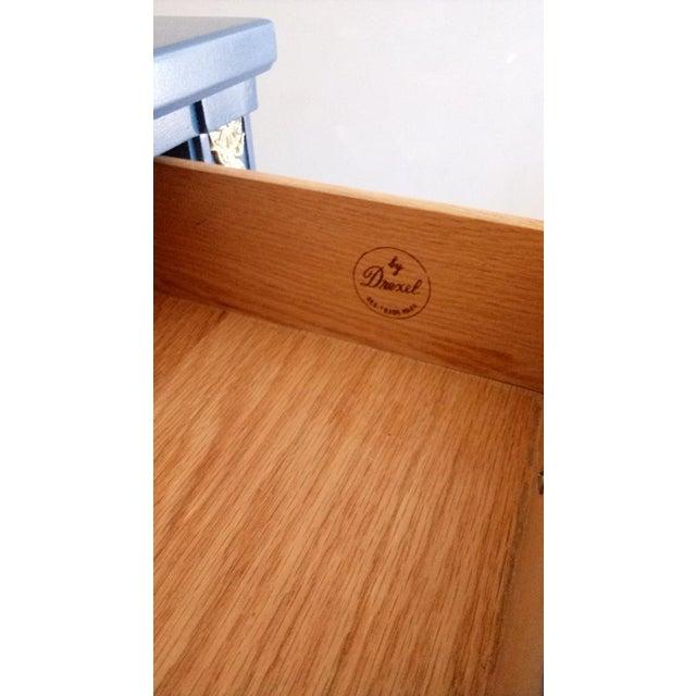 Drexel San Remo High Gloss Blue Nine Drawer Dresser Credenza - Image 5 of 7