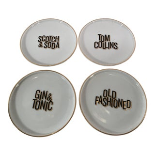 Mixed Drink Ceramic Coasters - Set of 4