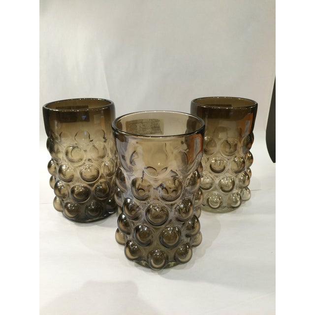 Image of Blown Glass Bubble Vases - Set of 3