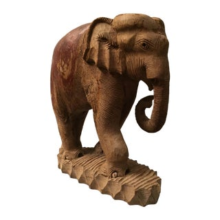 Antique Elephant Statue From Thailand