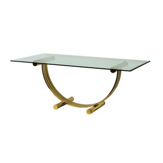 Glass & Brass Dining Table