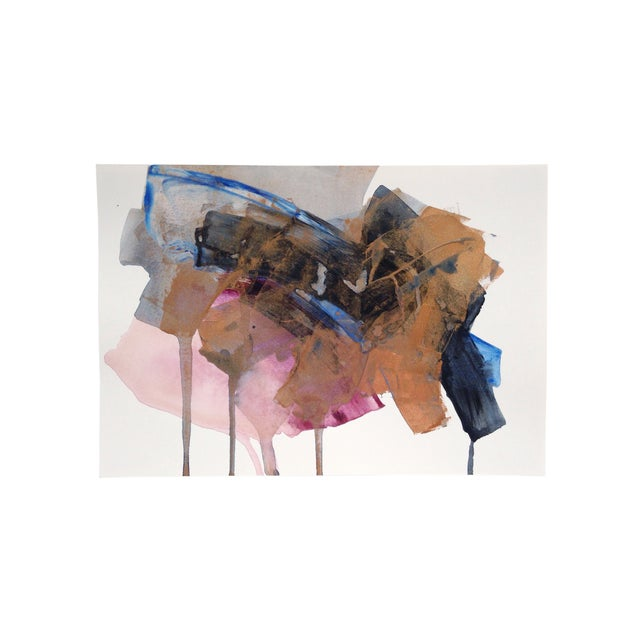 """Dani Schafer """"Night Study 4"""" Abstract Painting - Image 4 of 4"""