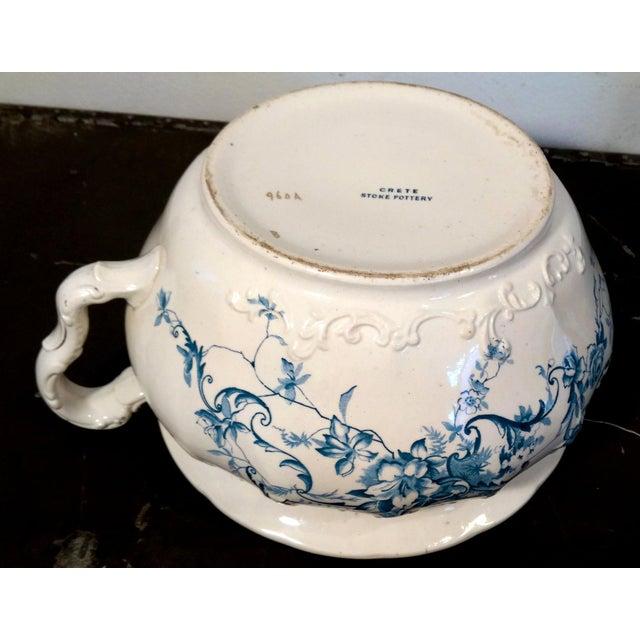 Image of Antique Crete Stoke Pottery Dresden Chamber Pot