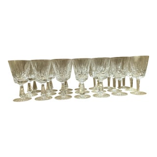 Waterford Lismore Water Goblets - Set of 26