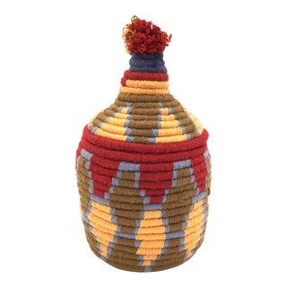 Saffron and Red Basket
