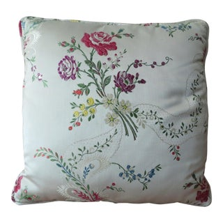 Damask Silk Lampas Pillow