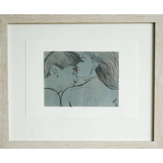 """Framed """"The Seduction"""" Collage Drawing"""