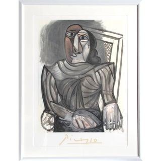 """Pablo Picasso """"Femme Assise a La Robe Grise"""" Lithograph"""
