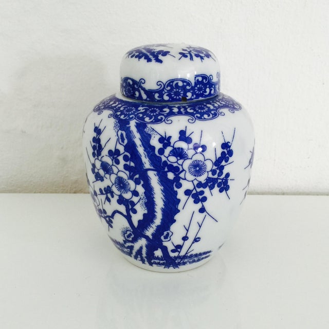 Mini Chinoiserie Blue & White Ginger Jar - Image 3 of 7
