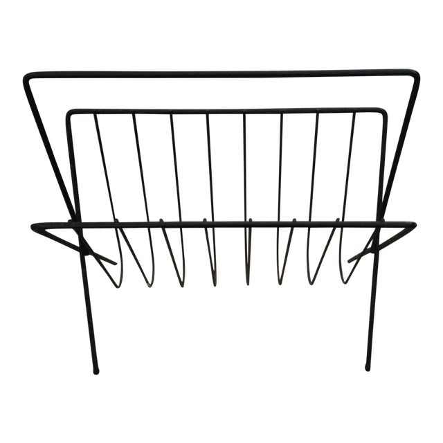 Mid-Century Arthur Urmnoff Style Magazine Rack - Image 1 of 4