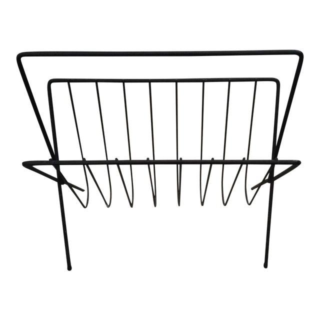 Image of Mid-Century Arthur Urmnoff Style Magazine Rack