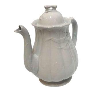Early English W & E CORN Ironstone Coffee Pot Wheat