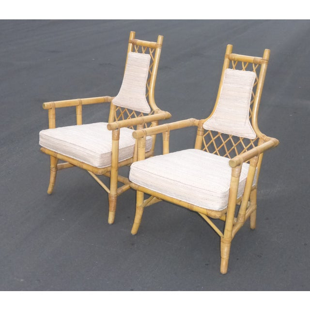 Vintage Mid Century Bamboo Chairs - A Pair - Image 5 of 10