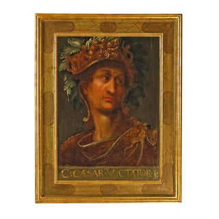 Grand Tour Oil Painting on wood of Caesar