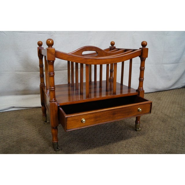 Maitland Smith Mahogany Magazine Stand - Image 6 of 10