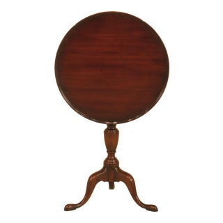 Kittinger Cw-11 Colonial Williamsburg Mahogany Tilt Top Table