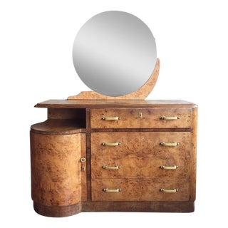 Italian Art Deco Dresser With Mirror