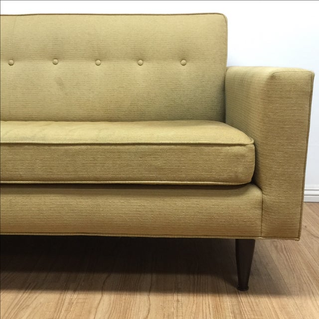 Image of Mid-Century Sofa in Light Olive