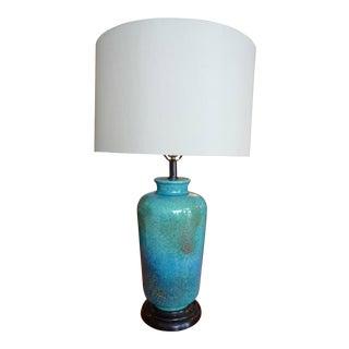 Mid Century Glazed Table Lamp