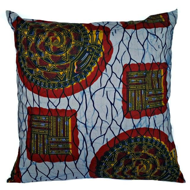 XL African Wax Print Fabric Pillow - Image 1 of 4