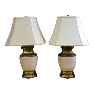 Chapman Ceramic and Brass Hollywood Regency Lamps - Pair