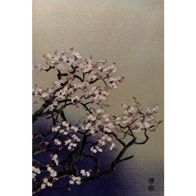 Kotozuka Vintage 'Cherry Blossoms' Block Print - Image 1 of 2