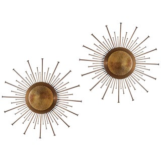 "Pair of Swedish ""Sunburst"" Sconces"