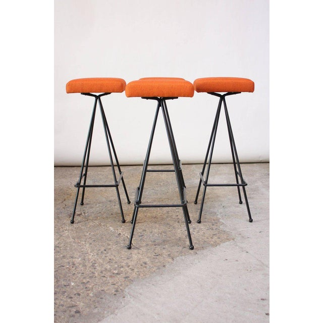 Set of Four Adrian Pearsall #11 Iron Barstools - Image 2 of 11