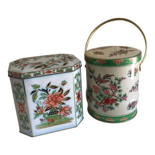 Vintage English Tea Tins - A Pair