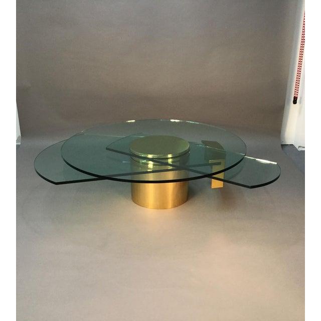 Dakota Jackson Self Winding Brass & Glass Table - Image 2 of 9